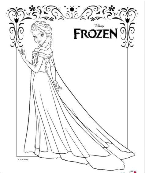 dibujos para colorear de elsa y anna frozen princesas disney dibujos para colorear de elsa de frozen imagenes de