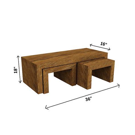Buy Amaani Furnitures Contemporary Range Coffee Table Set Range Coffee Table