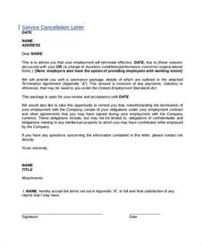 Service Cancellation Letter Format Cancellation Letter Template 10 Free Word Pdf