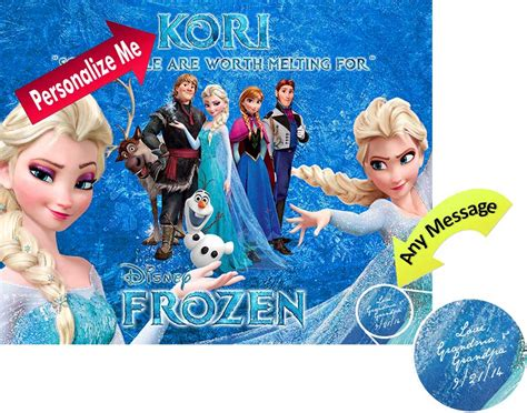 printable elsa poster top new disney frozen poster elsa anna personalized childs
