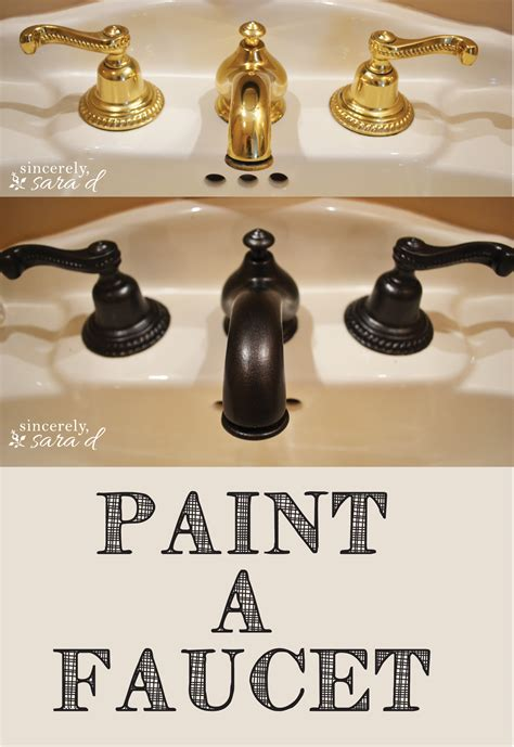 how to spray paint bathroom fixtures how to paint a faucet sincerely d