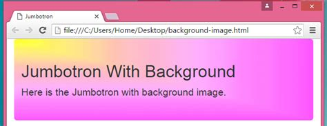bootstrap tutorial background image bootstrap jumbotron background image phpsourcecode net