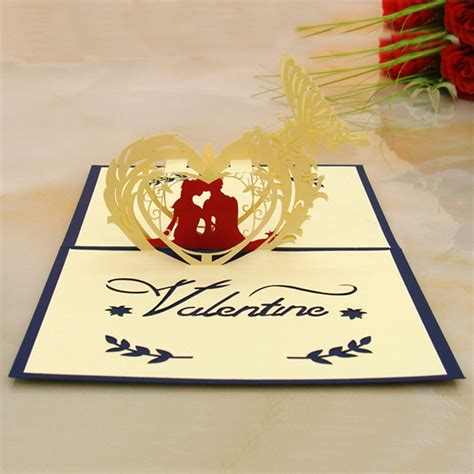 Pop Up Handmade Cards - greeting cards 3d pop up handmade card valentines day