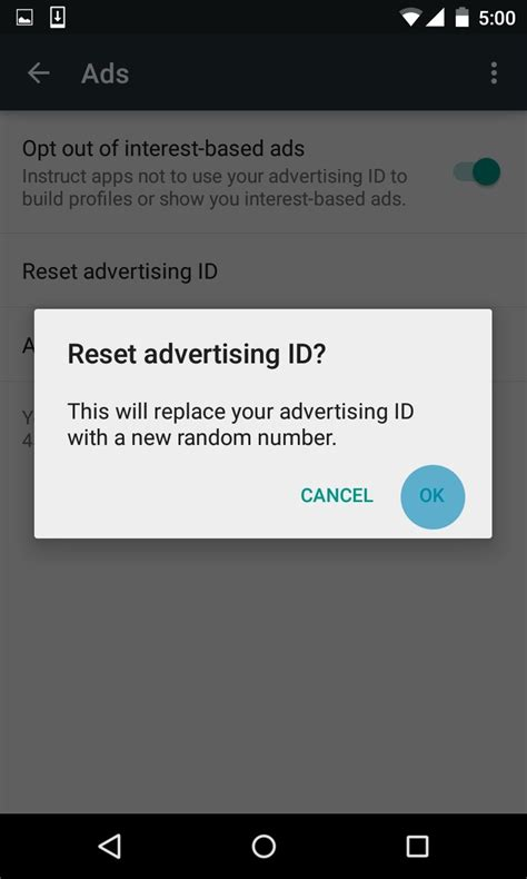 reset android device id what s an android advertising id how and why to reset it