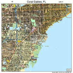 coral gables florida map 1214250