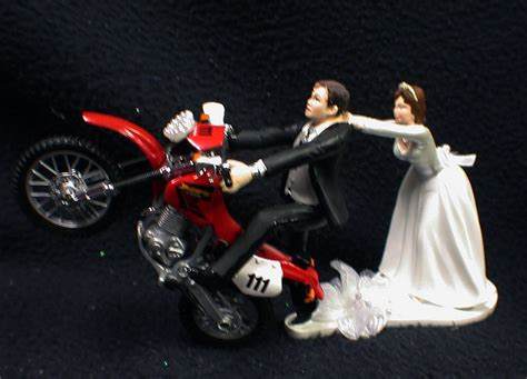 motocross bikes on ebay off road dirt bike motorcycle wedding cake topper red