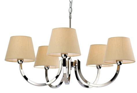 5 arm pendant ceiling light chrome multi arm pendant complete with cream shades