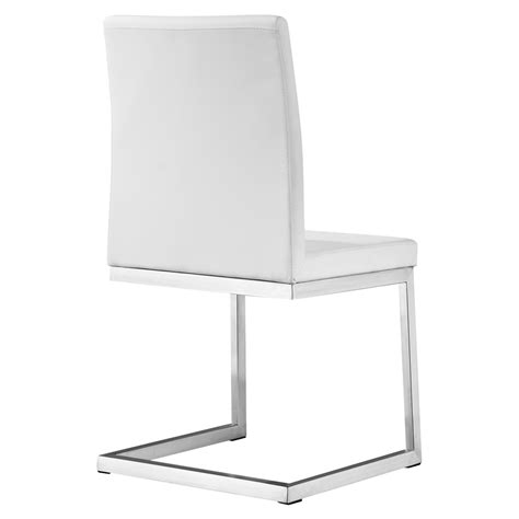 Manhattan Dining Chair Manhattan Dining Chair White Leather Look Stainless
