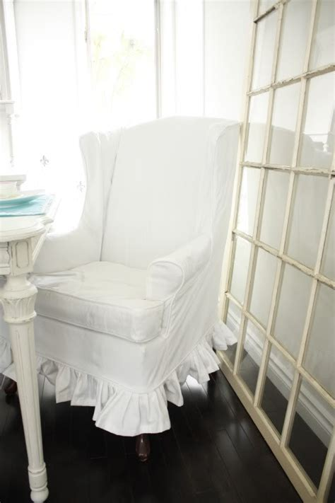 shabby chic slipcovers for wingback chairs slipcover her wingback chair i for kit elle i