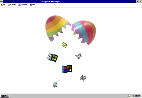 microsoft easter eggs microsoft windows 3 1 and windows 95 easter eggs