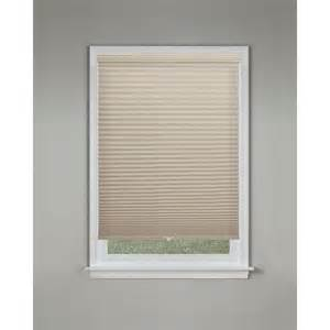 home depot cellular shades bali cut to size sandstone 9 16 in cordless blackout