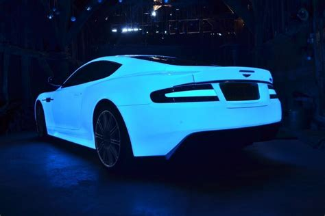 glow in the car paint uk gumball 3000 aston martin sports new glow in the paint