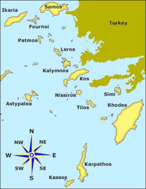 sailing greece routes dodekanese itineraries greek yacht charters dodekanese