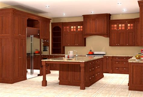 Mahogany Kitchen Designs | inset mahogany kitchen design rendering nick miller design