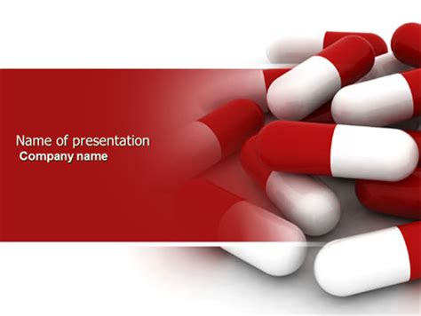 Red White Pills Powerpoint Template Backgrounds 04208 Poweredtemplate Com Pills Powerpoint Template