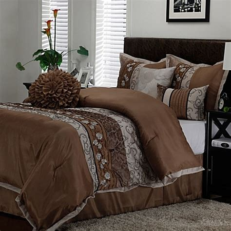 M S Bedding Sets Comforter Set In Taupe Bed Bath Beyond
