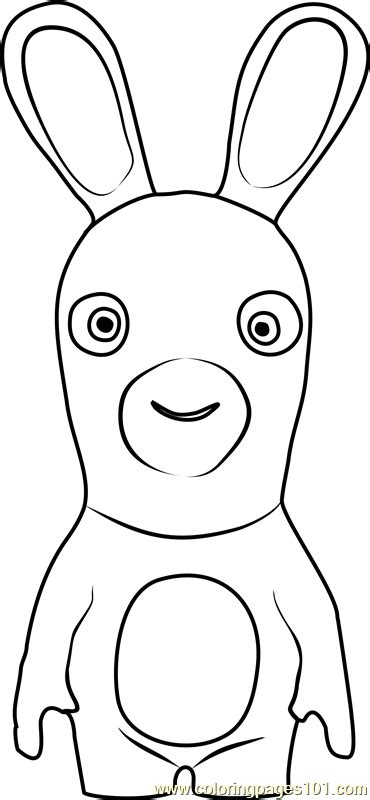 rabbids invasion coloring pages the rabbid coloring page free rabbids invasion coloring