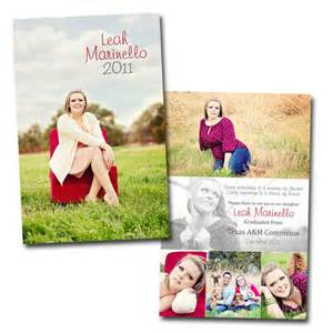 sided cardstock graduation announcement