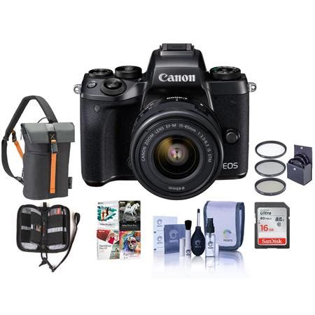 canon eos m5 mirrorless with 15 45mm stm lens and free