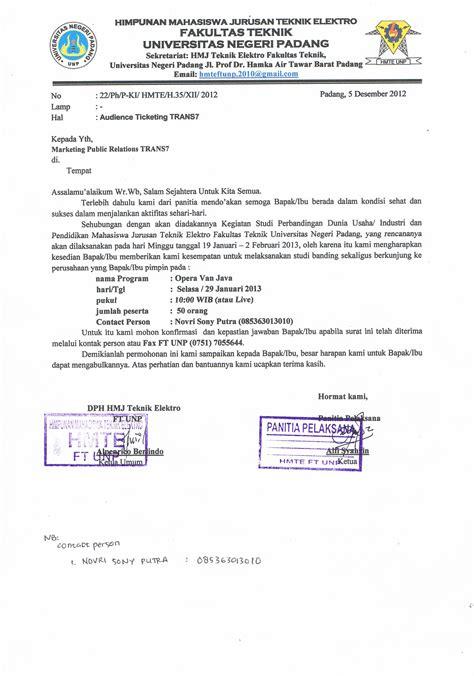 surat kunjungan kunjungan industri studi banding hmte ft