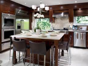 kitchen island tables hgtv kitchen island with table attached home design ideas