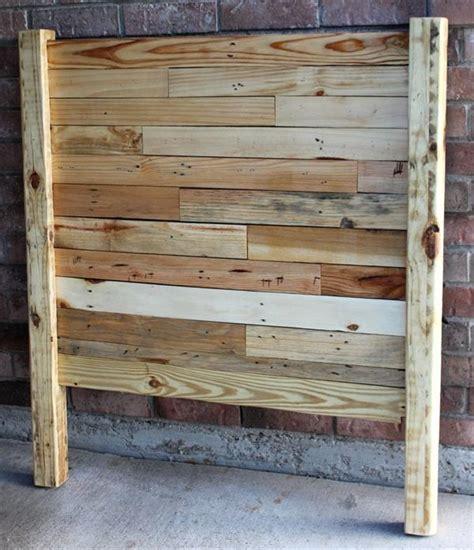 diy pallet queen sized headboard pallet furniture plans
