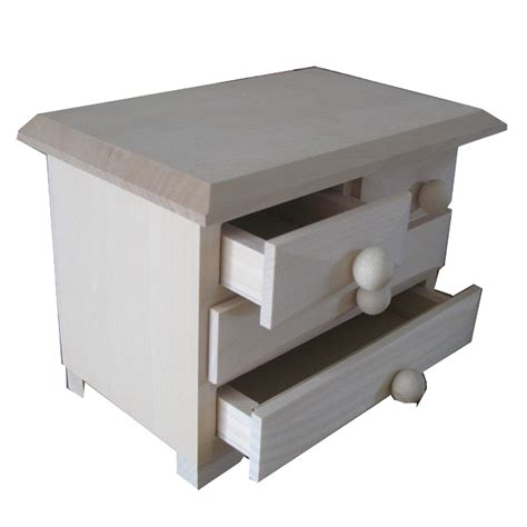 Small Wooden Box With Drawers by Plain Small Wooden Chest Of Drawers Unfinished To Decorate