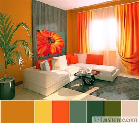 design interior apartment green pramuka stylish orange color schemes for vibrant fall decorating