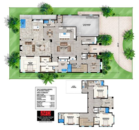 Two Story Mediterranean House Plans by 2 Story Mediterranean House Plan By South Florida Design