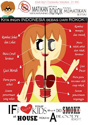 cara membuat poster tentang rokok love the life you live