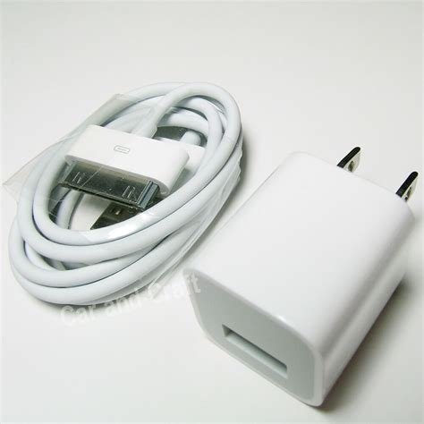 genuine apple iphone 3 4 4s ipod charger adapter usb cable a1265 a1385 original ebay