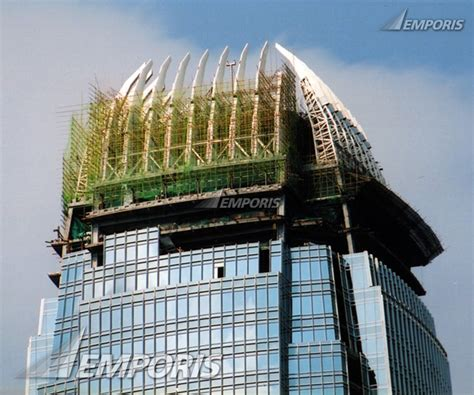 curtain city hong kong curtain wall and roof fins construction two international