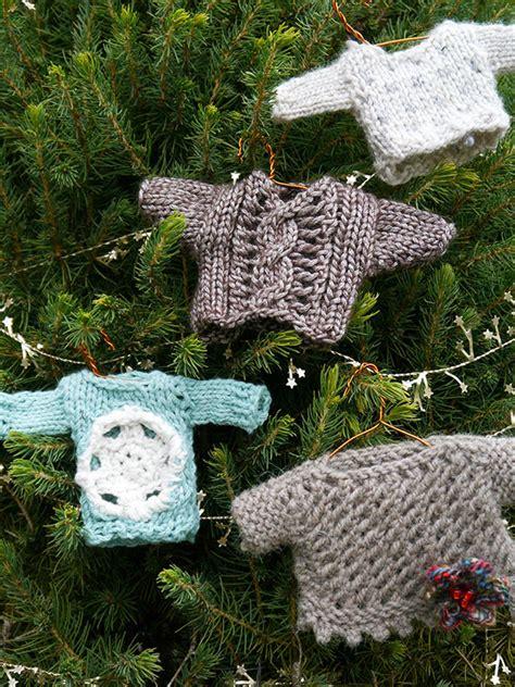 mini knitting pattern mini sweaters to knit and crochet free