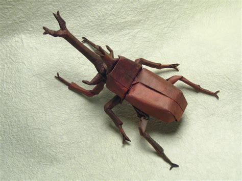 Origami Stag Beetle - allomyrina dichotoma