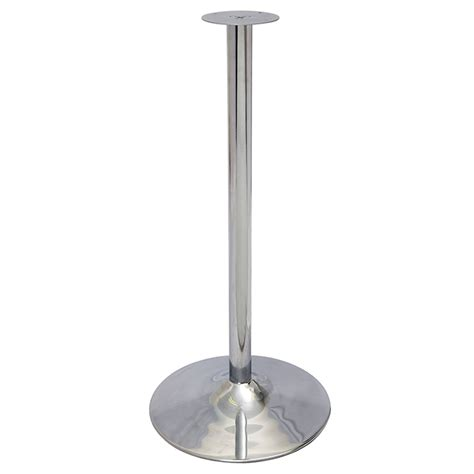 high top table base stacey high table chrome disc base no top