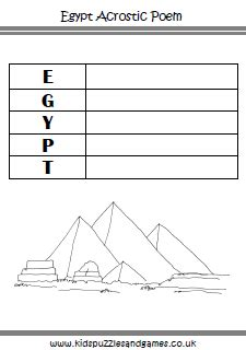 pyramid poem template ancient worksheets puzzles and