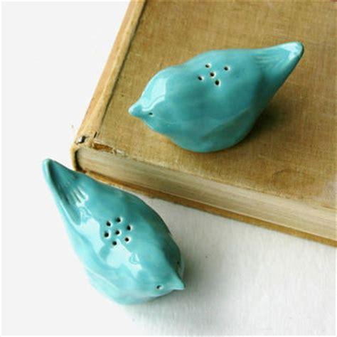 Handmade Salt And Pepper Shakers - salt pepper shakers porcelain birds from