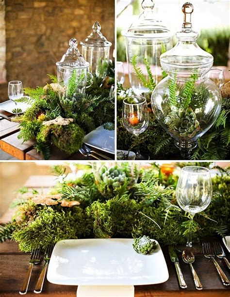 Home Decor Ideas For Indian Wedding picture of dreamy woodland wedding table decor ideas 25