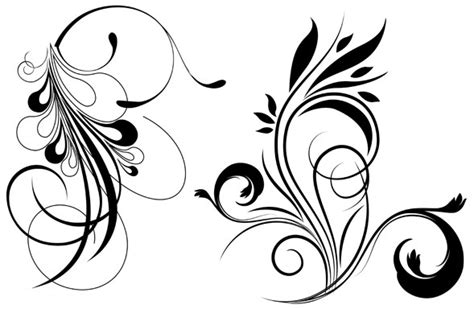 vector art photoshop tutorial pdf free floral vector graphics brushes free vector site