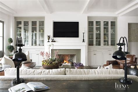 Kitchen Designers Surrey contemporary white farmhouse style living room