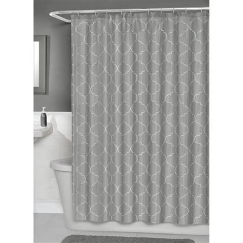 wal mart shower curtains hometrends concord fabric shower curtain with peva liner