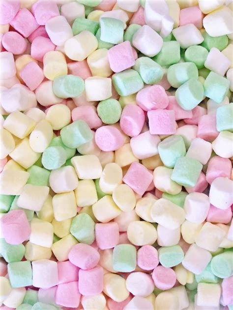 Mini Marshmallows mini colored marshmallows wallpapers for phone planters pastel and aesthetics