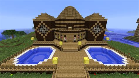 minecraft house tutorial step by step minecraft tutorial of how i built the wooden mansion youtube
