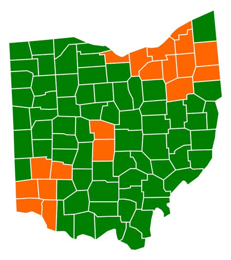 Republican Also Search For File Ohio Republican Presidential Primary Election Results By County 2012 Svg