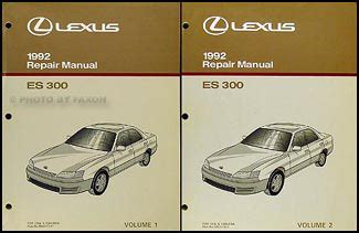 1992 lexus es 300 repair shop manual original 2 volume set