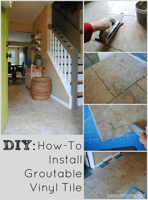 do it yourself how to install luxury vinyl tile that you can grout it looks just like ceramic