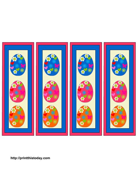free printable easter bookmarks to color more easter bookmarks