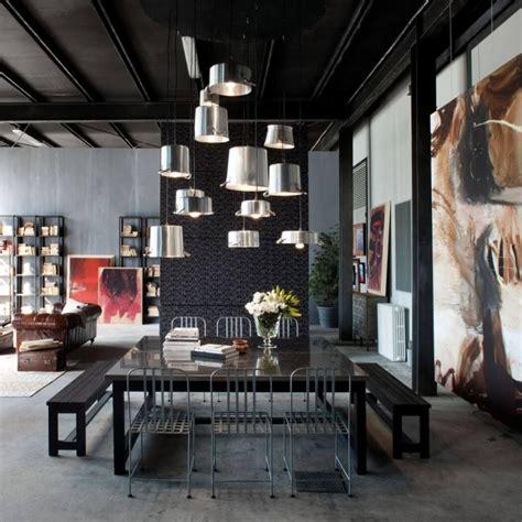 loft home decor milan loft design with industrial metals in decor digsdigs