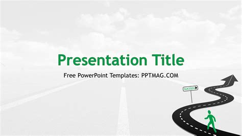 free road to success powerpoint template pptmag