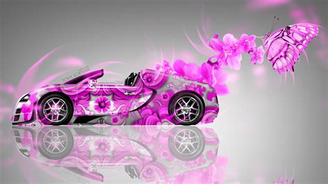 Bugatti Veyron Roadster Fantasy Flowers Butterfly Car 2014 ... Juke Logo